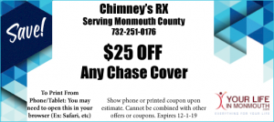 ChimneyRX in Monmouth county coupon special