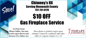 ChimneyRX gas fireplace service coupon