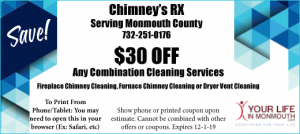 Chimneys RX dryer vent cleaning coupon