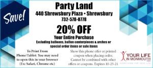 Partyland Shrewsbury NJ