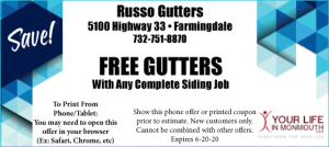 Russo Gutters home improvement coupon