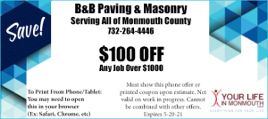 B&B Paving and Masonry Union Beach NJ
