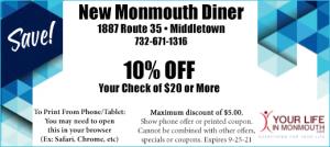 New Monmouth Diner Middletown NJ